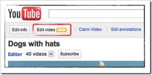 Edit YouTube video Onlinetrziste